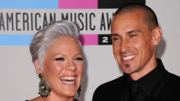 """No-brainer"" ... Pink and Carey Hart reveal the name they would give a son."