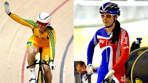Australia's Anna Meares (left) and Victoria Pendleton of Britain are fierce rivals on the track.