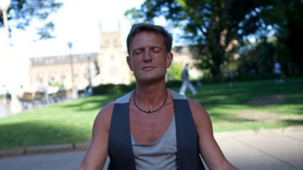 Working for the greater good...Yoga Aid founder Clive Mayhew.