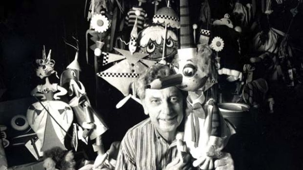 Pulling the strings ... Norman Hetherington with his most famous creation, children's favourite Mr Squiggle.