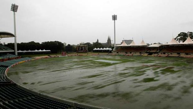 Never rains but it pours ... the weather gods did their bit yesterday, with Adelaide Oval resembling a swimming pool by ...