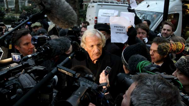 Showing his support ... John Pilger