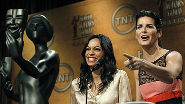 Rosario Dawson and Angie Harmon announce the SAG nominees in Los Angeles  overnight.