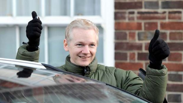 Out on bail ... WikiLeaks founder Julian Assange has been accused of sexual misconduct by two Swedish women.
