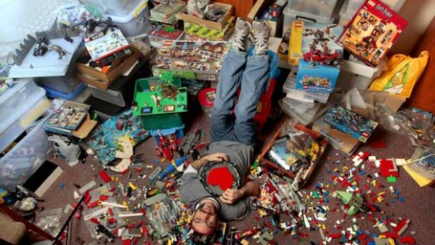 Travis Matheson has spent $15,000 on his Lego collection and is among the 10 per cent of customers who are adult fans.