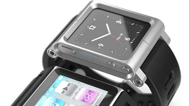 An iPod Nano watch funded by punters on Kickstarter.com.