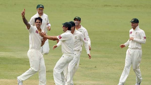 The aggro is back . . . a harder-edged approach has been credited for Australia's Perth win.
