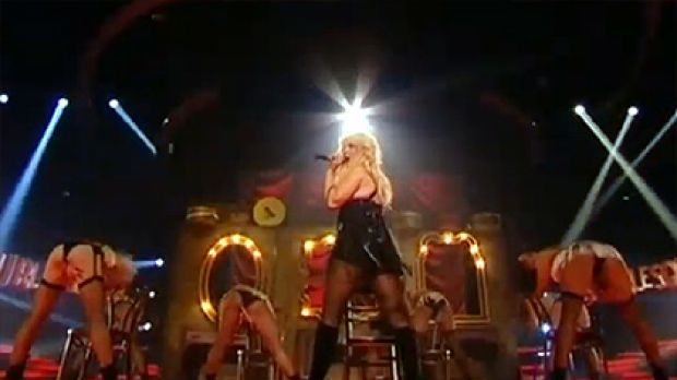 Complaints ... Christina Aguilera's Burlesque routine upset X Factor viewers in the UK.