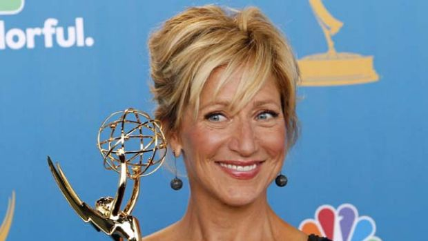 No laughing matter ... Edie Falco winning best comedic actress.