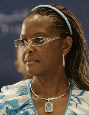 Grace Mugabe ... the wife of the President.