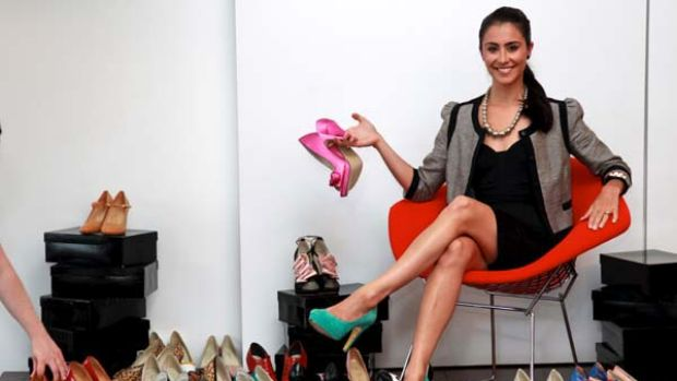 All shapes and sizes ... Jodie Fox of Shoes Of Prey with some of the footwear on offer. The company is not joining big ...