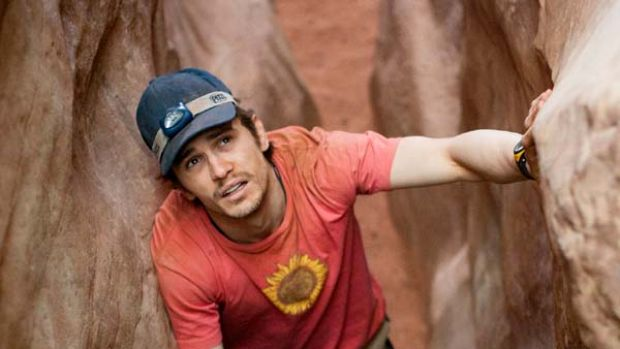 James Franco in a scene from 127 hours.