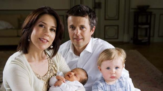 Delighted ... Crown Prince Frederik and Mary with Christian and Isabella in 2007.