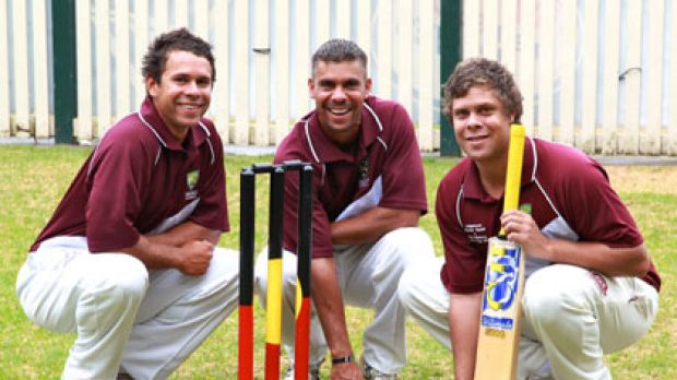High hopes ... the Ugle brothers, Keren, 31, left, Liam, 24, and Dane, 22, a cricketing trio from the West Australian bush.