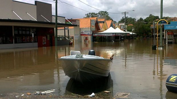 Flooding in Rosalie on January 12.