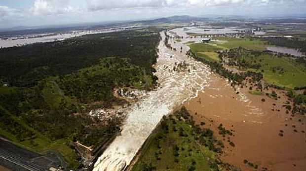 Controlled releases are aimed to relieve the Wivenhoe Dam's swollen flood storage.