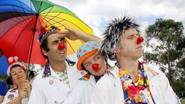 Lifting the mood . . . humour clowns may help with the stress associated with IVF.