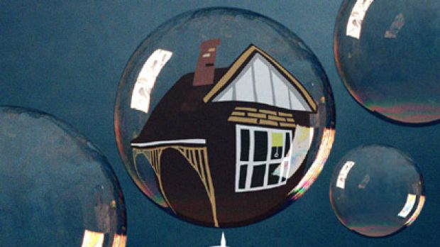 Is the property market coming unstuck? Illustration: Judy Green.