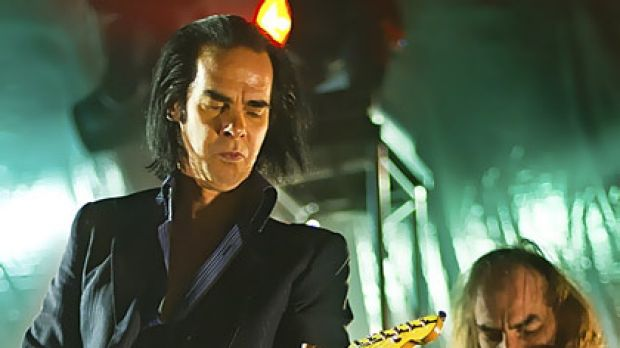 Grinderman's Nick Cave and Warren Ellis at the Palace on Monday night.