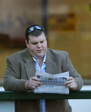 Well read ... potential new Knights owner Nathan Tinkler.
