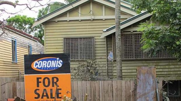 One of Brisbane's flood-hit homes which is up for sale.