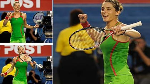 Andrea Petkovic ... says she's superstitious, so will keep dancing after a win.