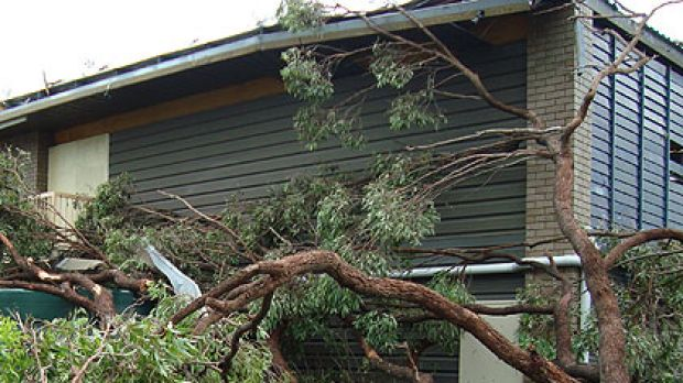 Storm damage at The Gap in 2008.
