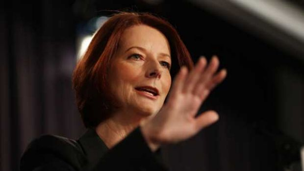 """""""I see what needs to be done and I will do it"""": Julia Gillard addresses the National Press Club."""