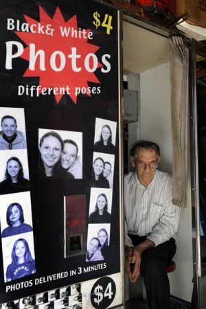 After 38 years of smiling for the camera, photo booth owner and operator Alan Adler says his business faces an uncertain ...