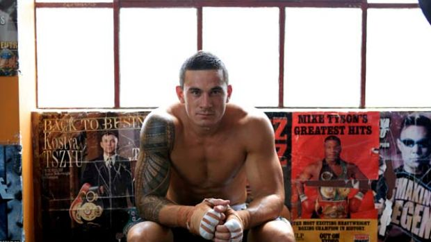 Ready ... Sonny Bill Williams at the Tony Mundine gym in Redfern this month. He is the headline act for his heavyweight ...