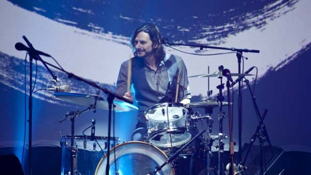 Pleasant enough ... singer and drummer Gotye performs at City Recital Hall.
