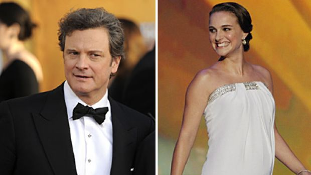 Oscar front-runners ... Colin Firth and Natalie Portman.