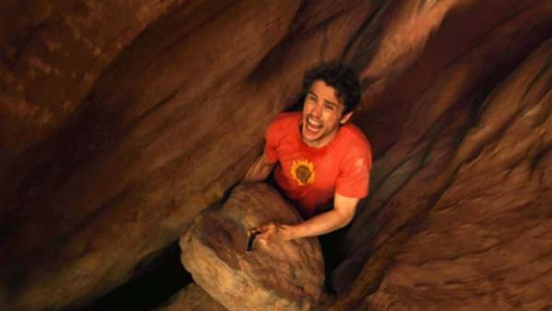 Survival story ... 127 hours starring James Franco.