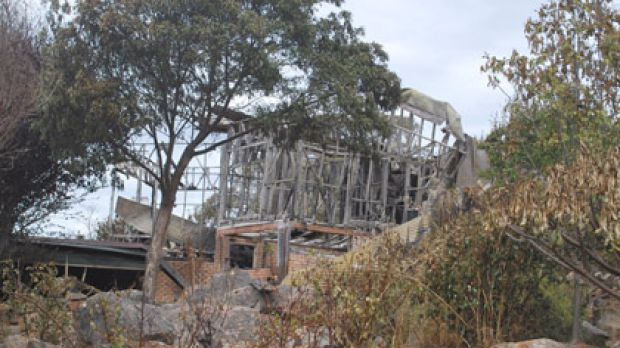 One of the Bromfield Road properties destroyed in the recent bushfires in Kelmscott.