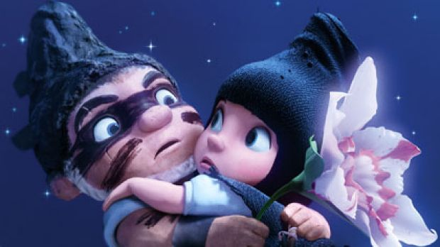 A plague on both your greenhouses ... Gnomeo (James McAvoy) and Juliet (Emily Blunt) delight with double entendres, puns ...
