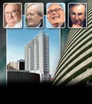 Who's who in the Tower of Power: (from left) trucking magnate Lindsay Fox, businessman Ron Walker, former Crown Casino ...
