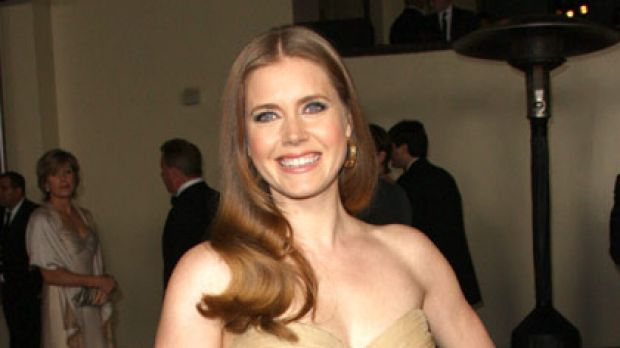 24-hour glamour ... Amy Adams walks the Directors Guild awards red carpet.