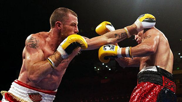 Garth Wood and Anthony Mundine face off in December.