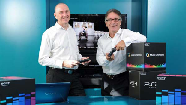 Sony Australia's Paul Colley with Sony Computer Entertainment chief Michael Ephraim.