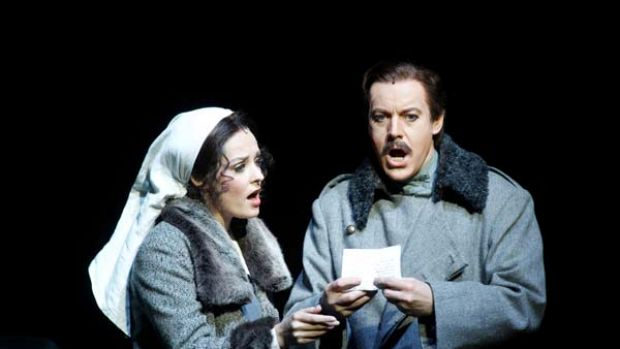 Emotional directness . . . Anthony Warlow as Yurii Zhivago and Lara played by Lucy Maunder in the production of the ...