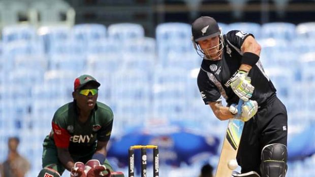 New zealand thrashes kenya for Farcical run out