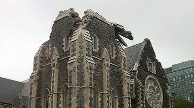 Christchurch Cathedral was heavily damaged in today's eathquake.