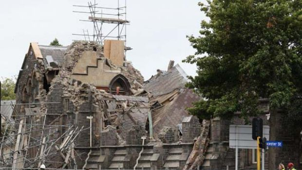 """The historic Anglican cathedral ... """"survived the Blitz"""" - until now."""
