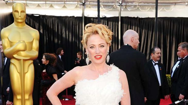 Actress Virginia Madsen arrives at the 83rd Annual Academy Awards.