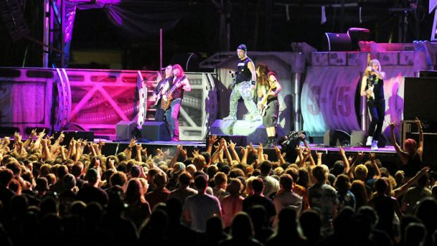 Iron Maiden maintained their legacy on stage at the Soundwave Festival, Brisbane.