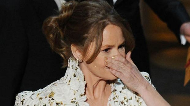 Oops ... Melissa Leo has apologised for her four-letter slip.