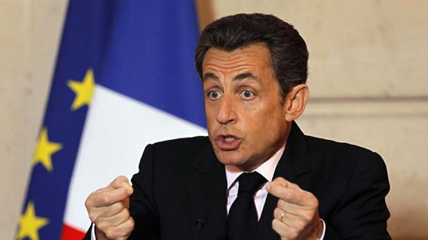 Nicolas Sarkozy ... trying to keep votes from far right.