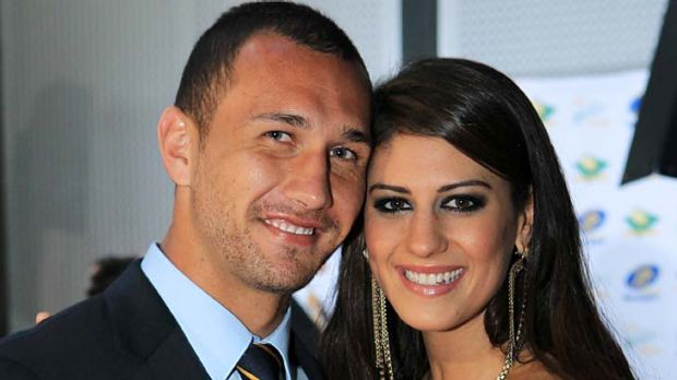 Prolific tweeters . . . Quade Cooper and Stephanie Rice.