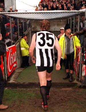 The famous no.35 of Peter Daicos and Simon Prestigiacomo is now to be worn by Collingwood's first round draft choice ...