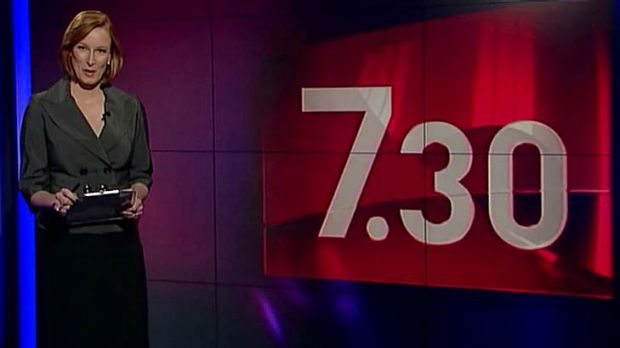 Leigh Sales opens the first segment of the relaunched ABC program <i>7.30</i>.